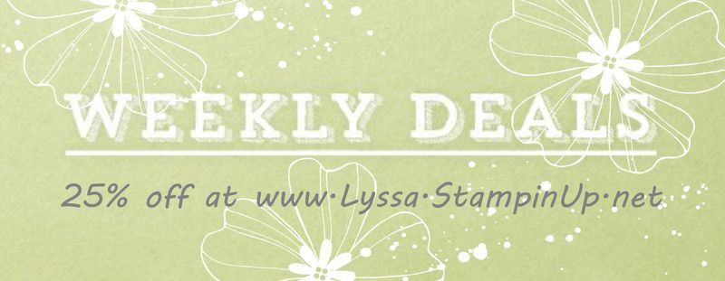 New Weekly Deal from Stampin Up