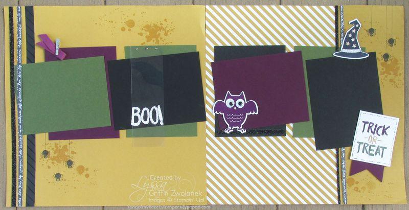 Happy Halloween Boo Overlay Spread