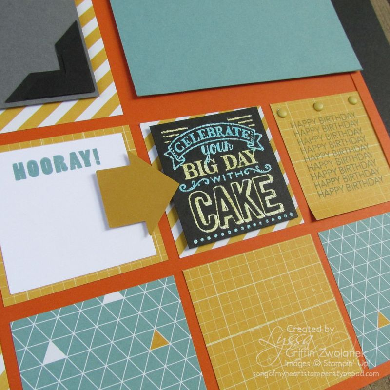 East Cake Birthday Page Closeup