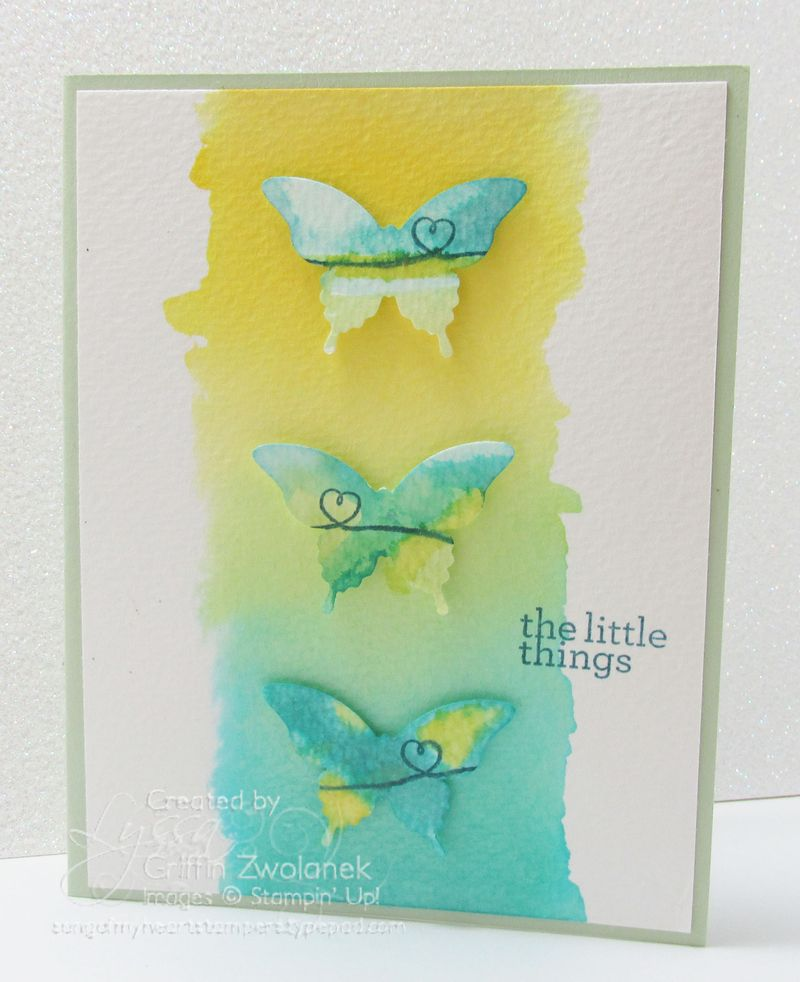 Watercolor Butterflies Card Stampin Up SOMHS