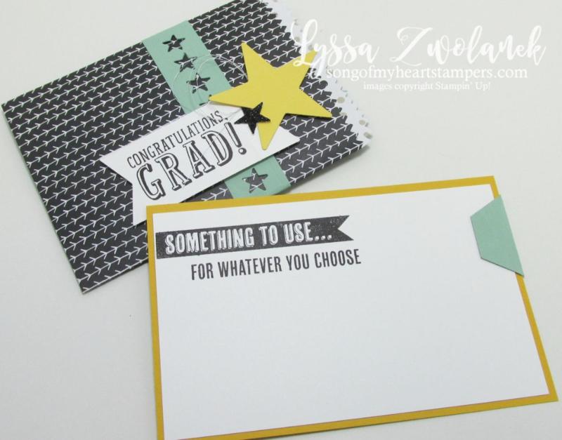 DIY graduation gift card money card holder www.songofmyheartstampers.com