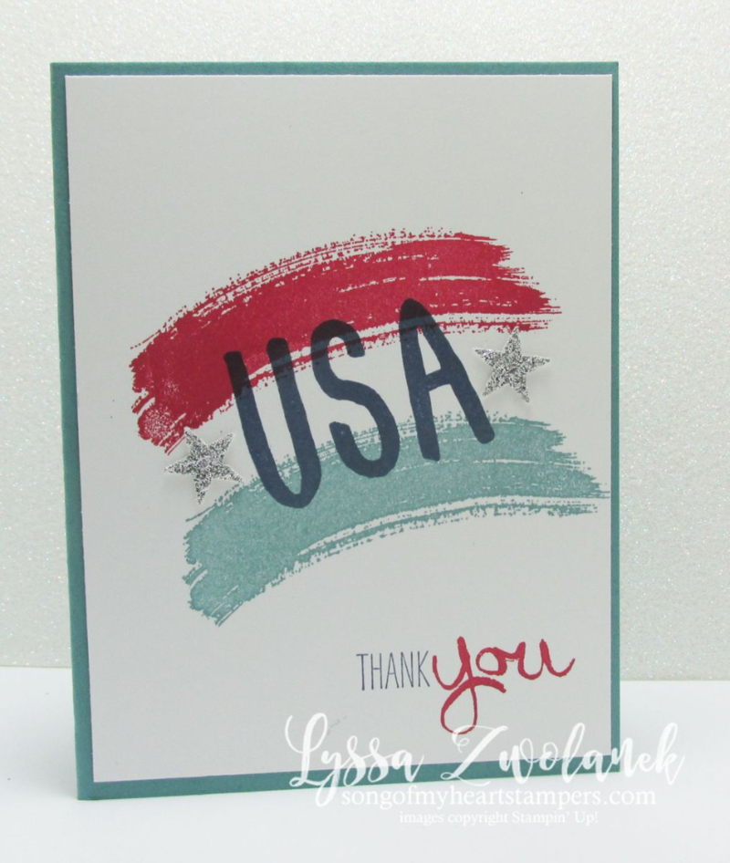 Honor Flight patriotic DIY cardmaking America Cards for the Troops www.songofmyheartstampers.com