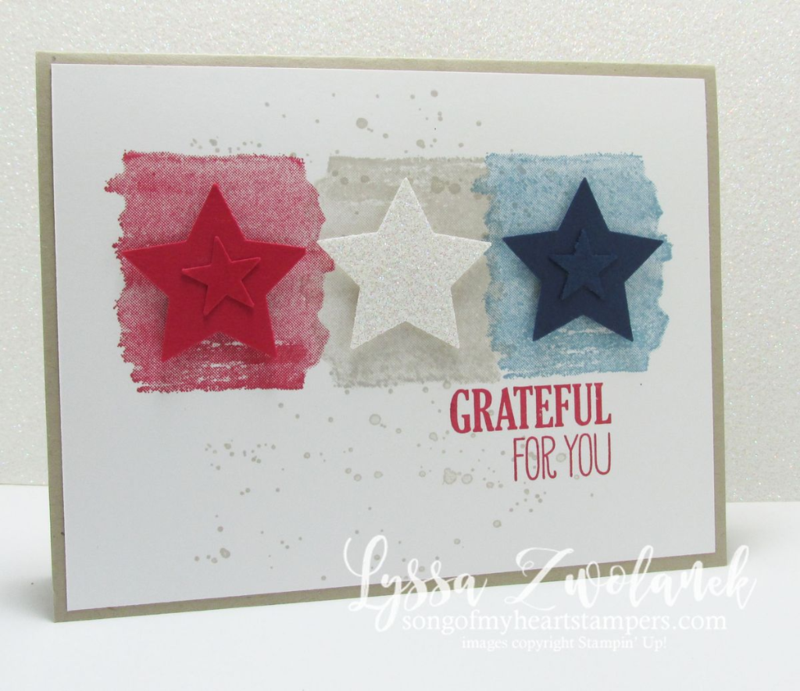 Honor Flight cards for American troops patriotic DIY www.songofmyheartstampers.com