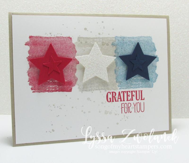 Honor Flight cards for American troops patriotic DIY www.songofmyheartstampers.com