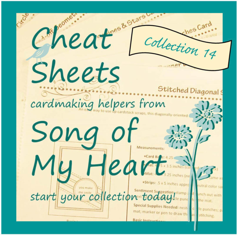 Cheat Sheets Individual Collection 14 #stampinup www.songofmyheartstampers.com