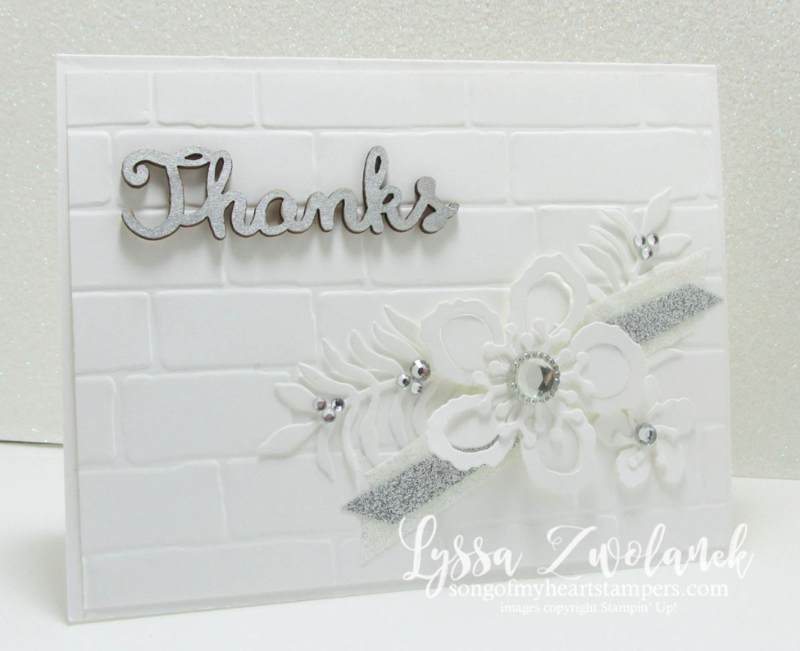 brick wall white on white floral stunner botanical builder framelits Stampin Up www.songofmyheartstampers.com