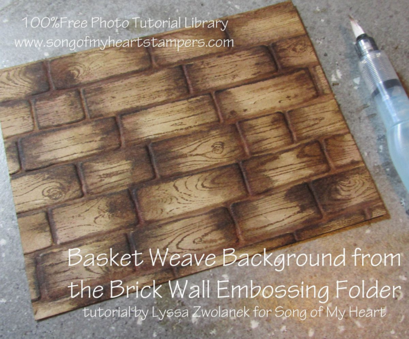 Basket Weave bakcground Technique tutorial brick wall #stampinup www.songofmyheartstampers.com
