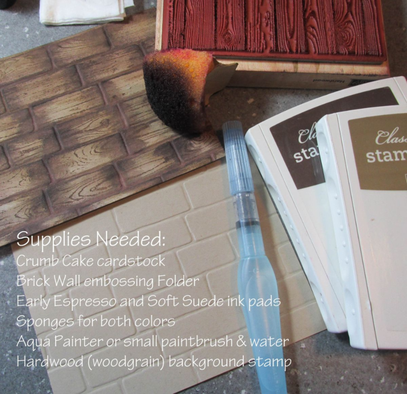 brick wall basket weave tutorial supplies needed Stampin Up www.songofmyheartstampers.com