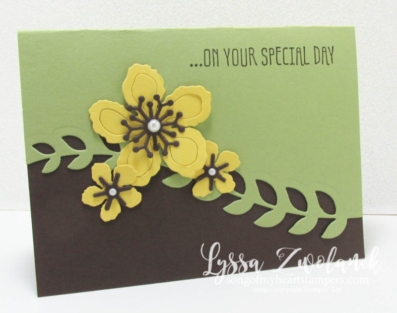 Botanical builder card green Framelits Big SHot #stampinup www.songofmyheartstampers.com cardmaking