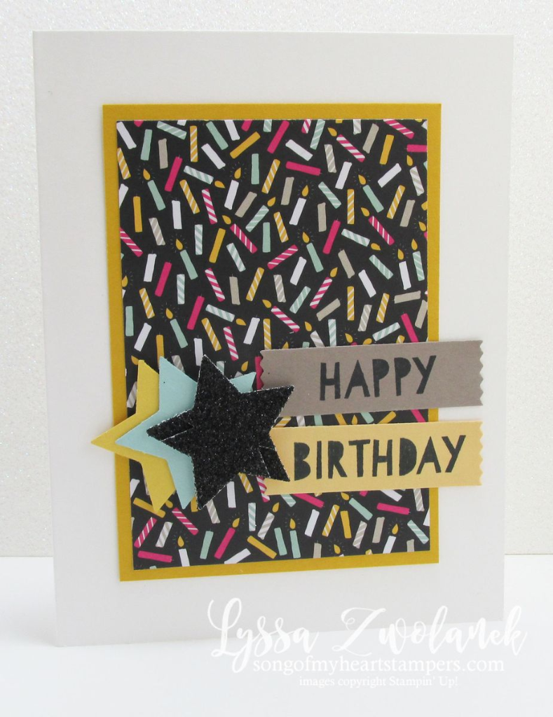 birthday card Stampin' Up www.songofmyheartstampers.com stars Age Awareness