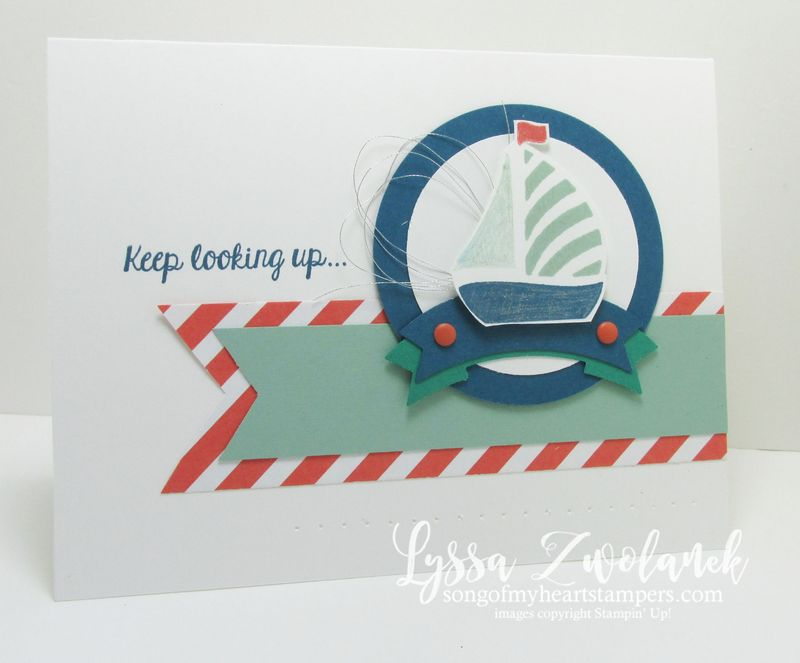 Keep looking up good luck card stampin up little boat