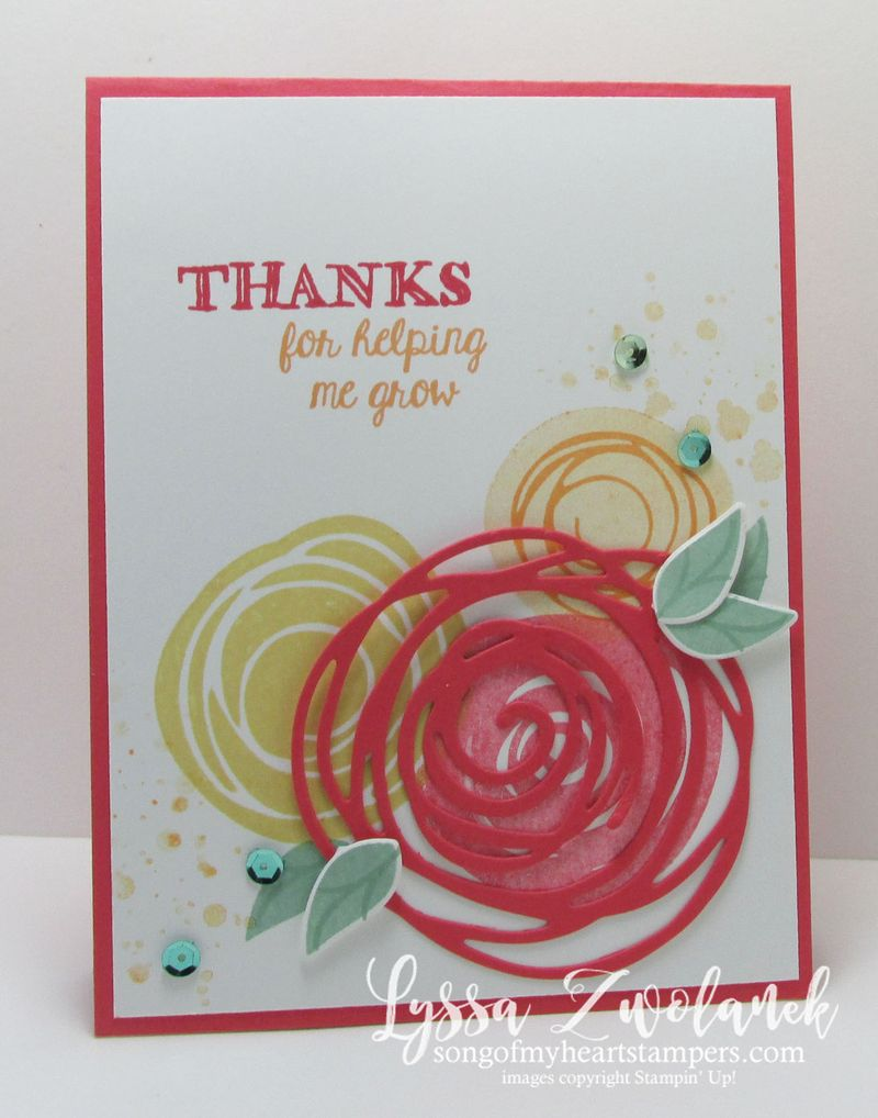 Swirls and scribbles thanks friend card Stampin Up
