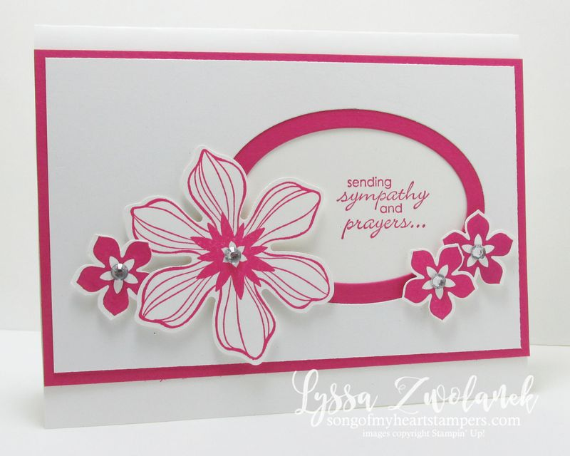 Fun flower sympathy card stampin up petite petals