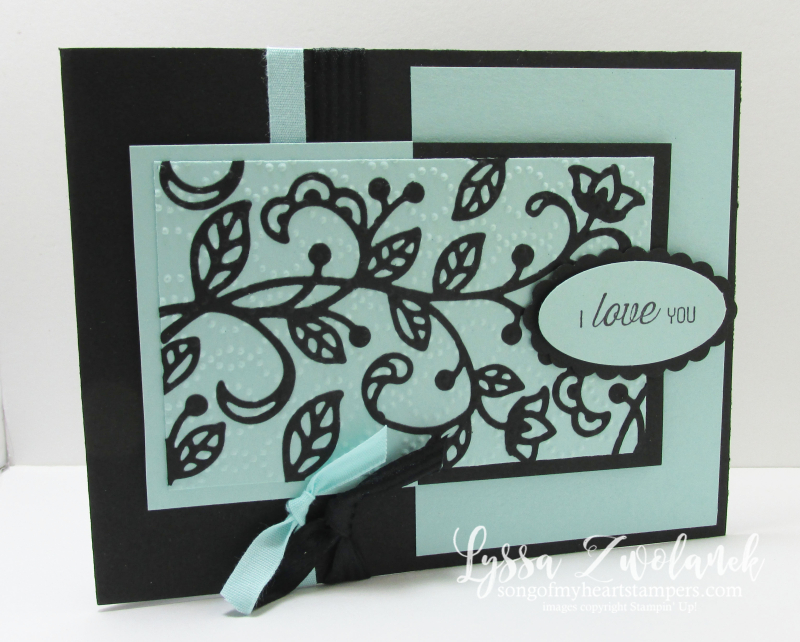 Floral flourish wedding thinlets Big Shot Card i love you stampin up