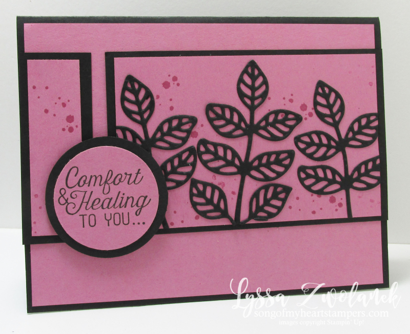 Sugarplum card stampin up song of my heart healing sympathy