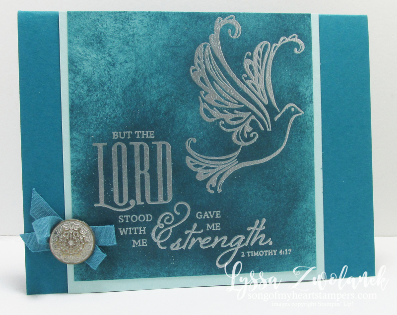 Strength Prayers Praying Card Stampin Up Dove background
