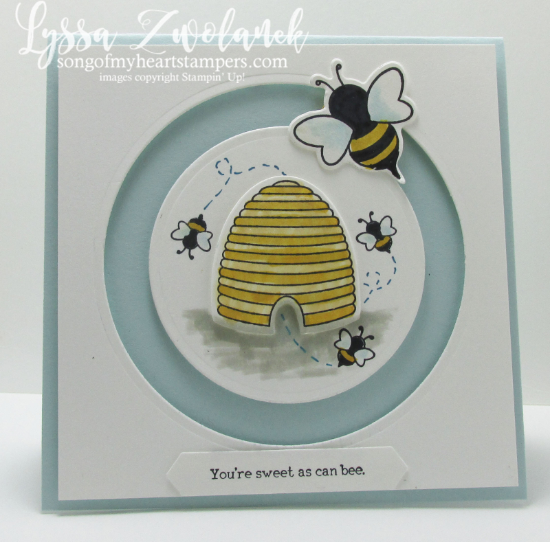 Sweet as can be shooting star Stampin Up card hive honeybee