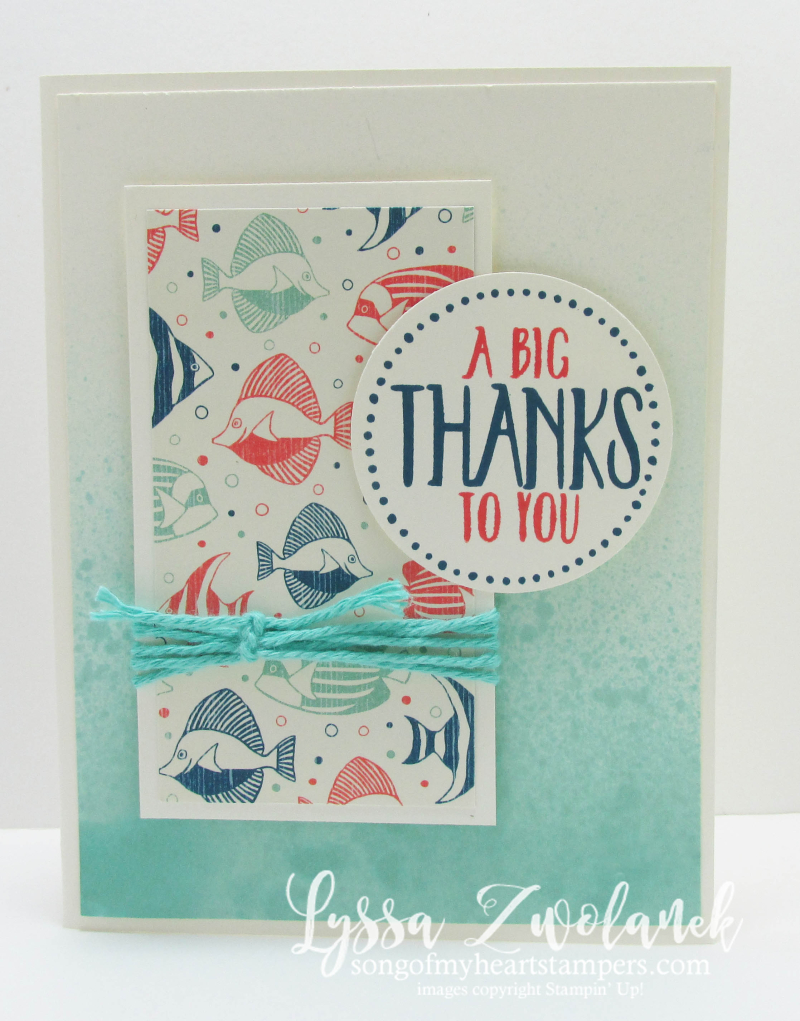 By The Sea Ombre Spritzing Technique Tutorial Stampin Up DIY Cardmaking