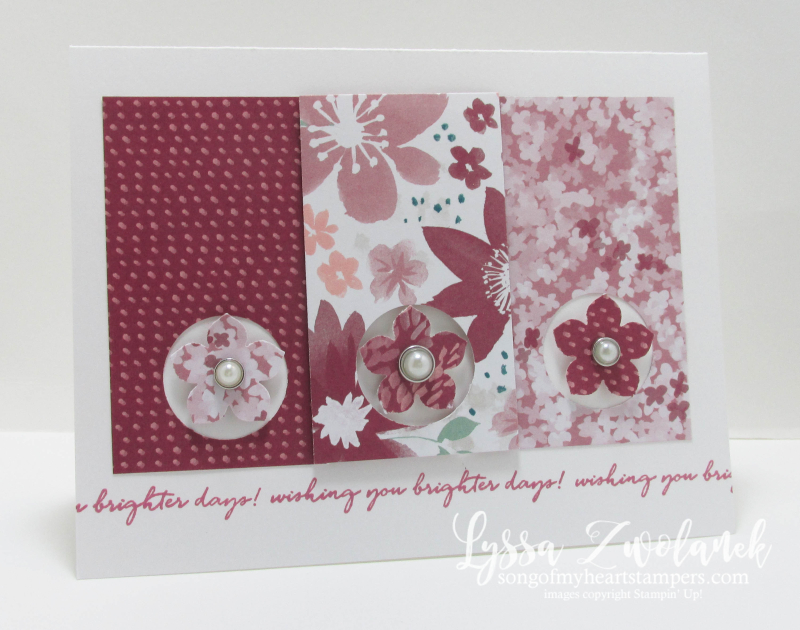 Blossom and Blooms papers Stampin Up Song of My Heart Stampers