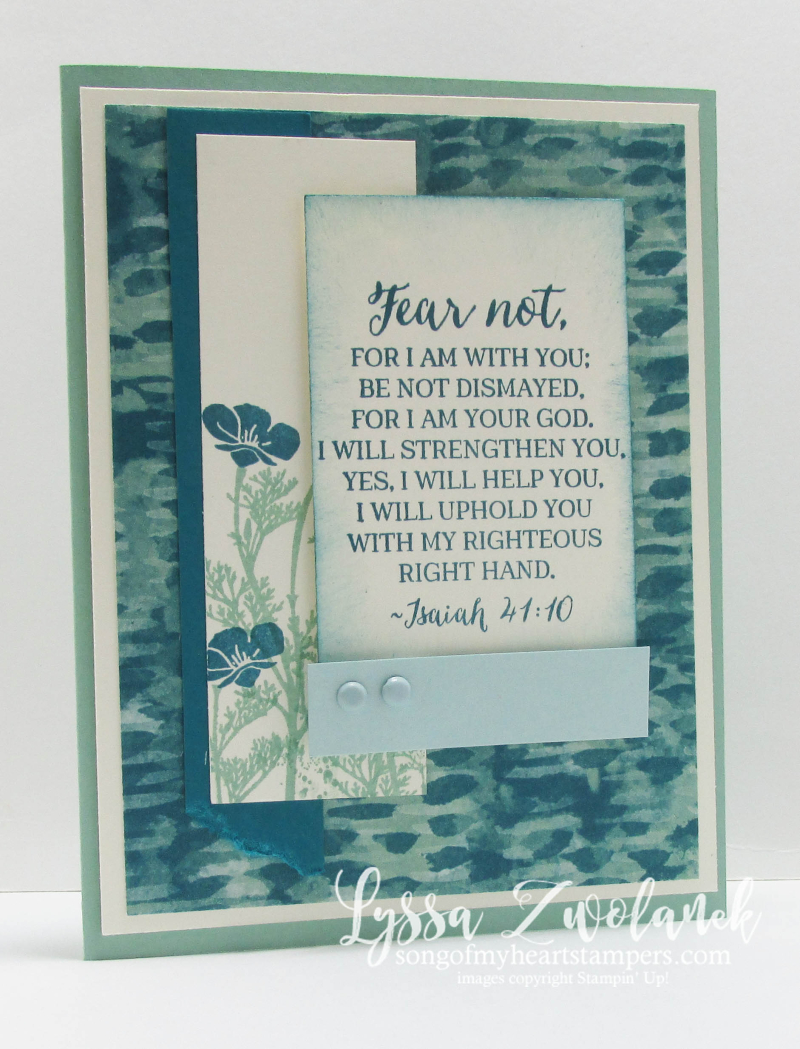 Fear Not I Am With Thee encouragement sympathy card Stampin Up Scripture Verse