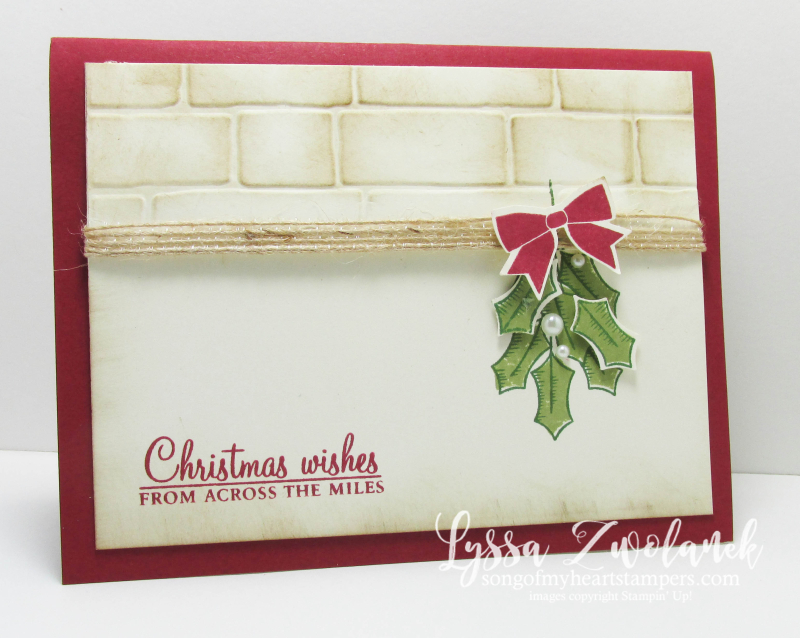 Holly Berry Holiday Stampin Up Christmas Card Mistletoe
