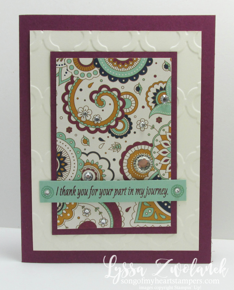 Paisleys and Posies Stampin Up Designer Series Paper