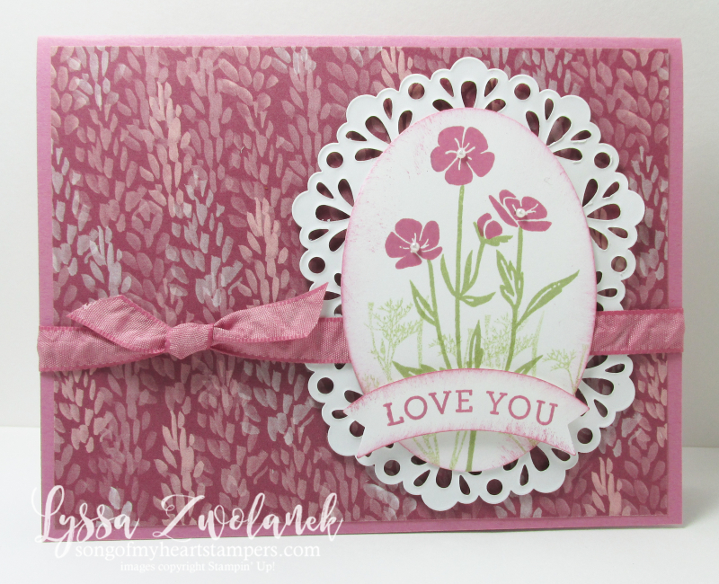 Wild About Flowers wildflower stamp wedding anniversary Stampin Up