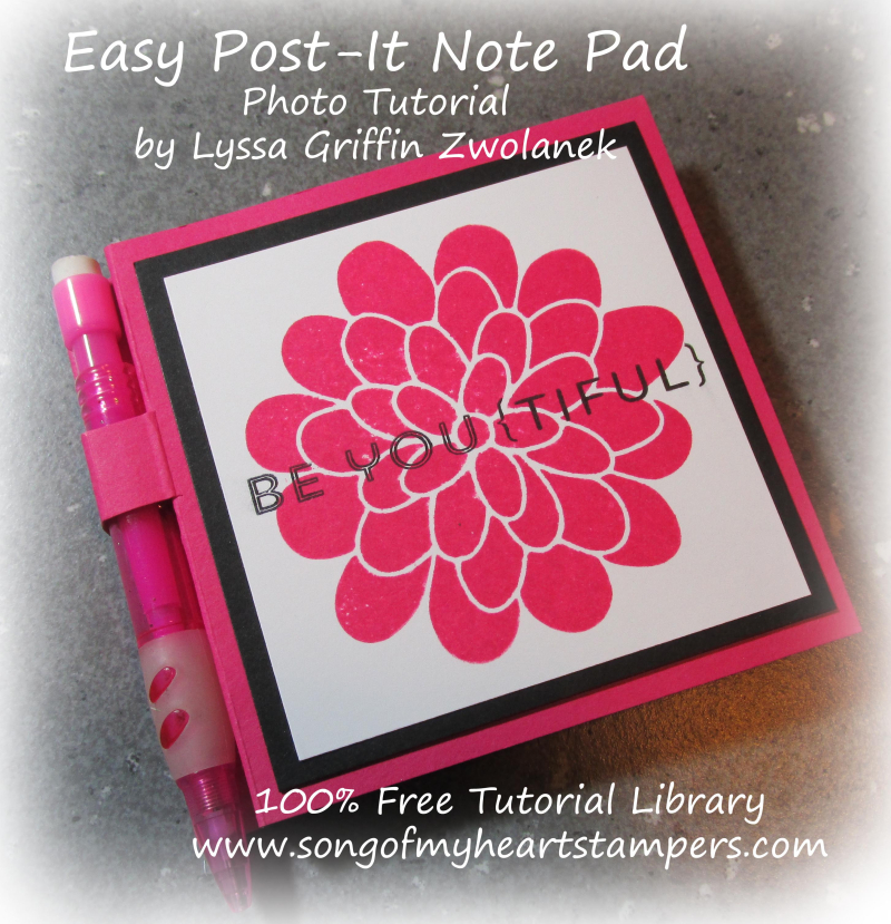 Covered Post It Note Pads and Pens Little Foxy Stampin Up tutorial easy kids craft