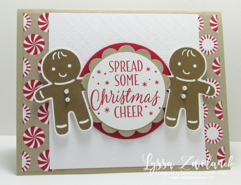 Cookie Cutter Christmas Gingerbread Punch Art Stampin Up Lyssa Zwolanek