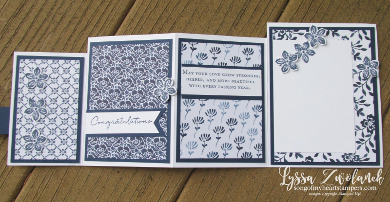 Fourfold four fold free tutorial Stampin Up cardmaking sketches wedding