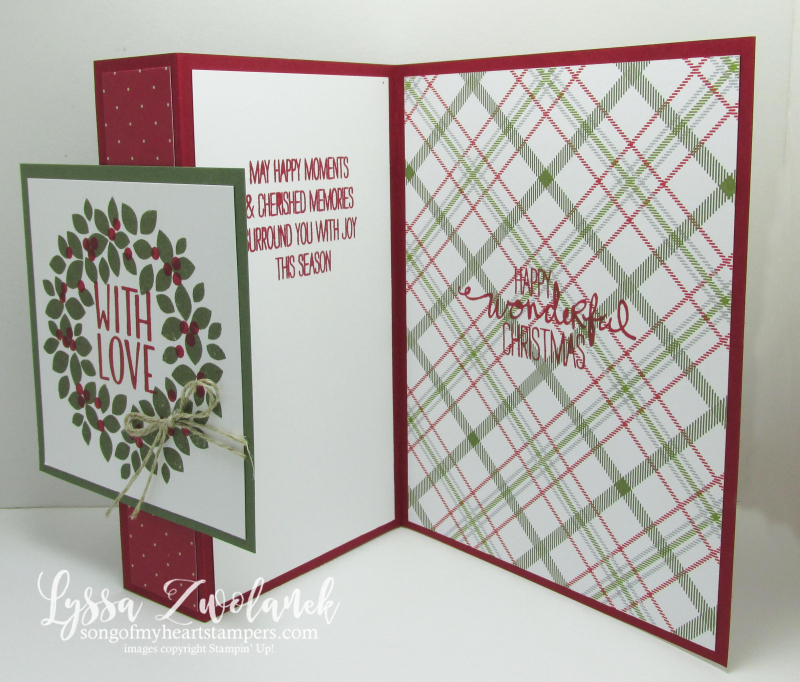 Easy Fold-back Front Christmas Card - Song of My Heart Stampers