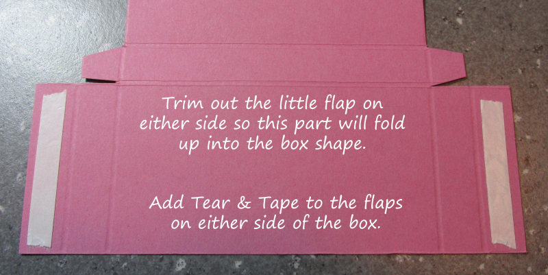 Freestanding post it note holder photo tutorial stampin up 5
