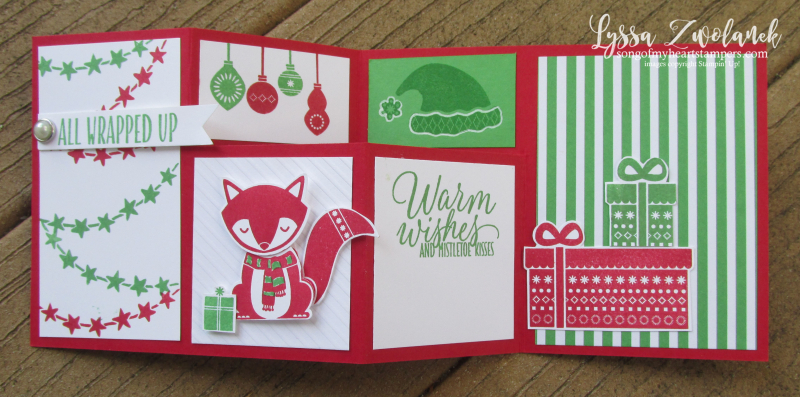 Simple step out photo tutorial fancy fold christmas cheat sheets