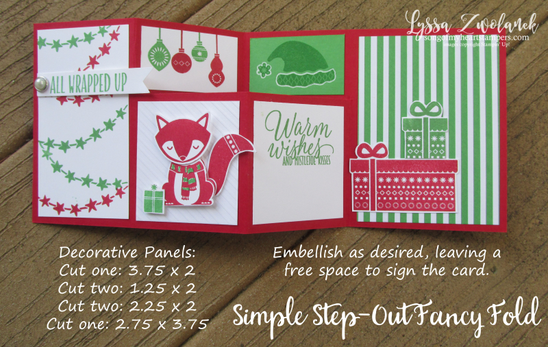 Simple step out photo tutorial fancy fold christmas fox cheat sheets
