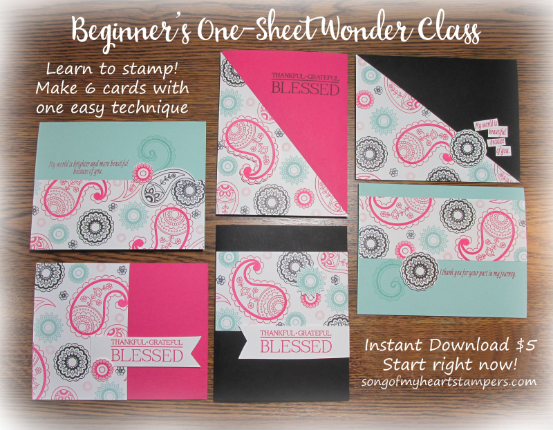 Beginners one sheet wonder free download class cardmaking techniques