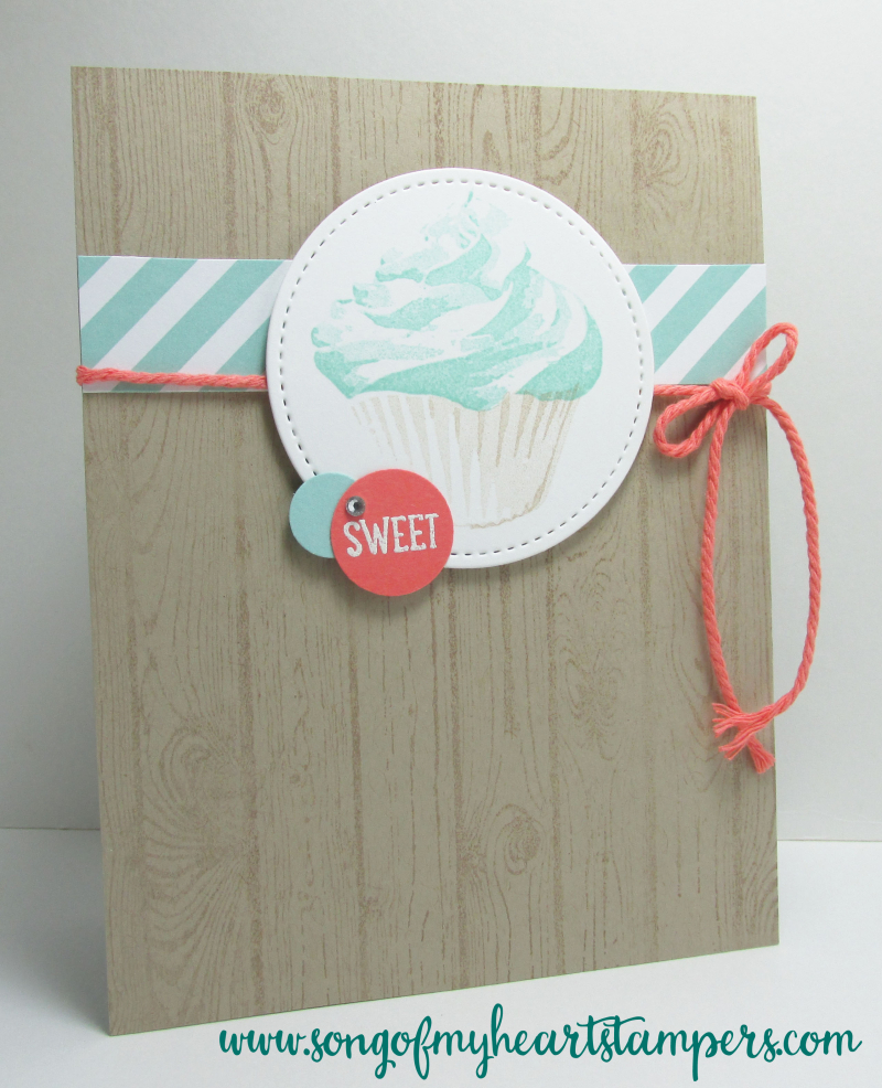 Sweet Cupcake triple stamping Stampin Up cardmaking techniques