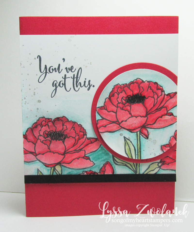 Watercolor pencils Stampin' Up You Got This card rubber stamp Lyssa Zwolanek