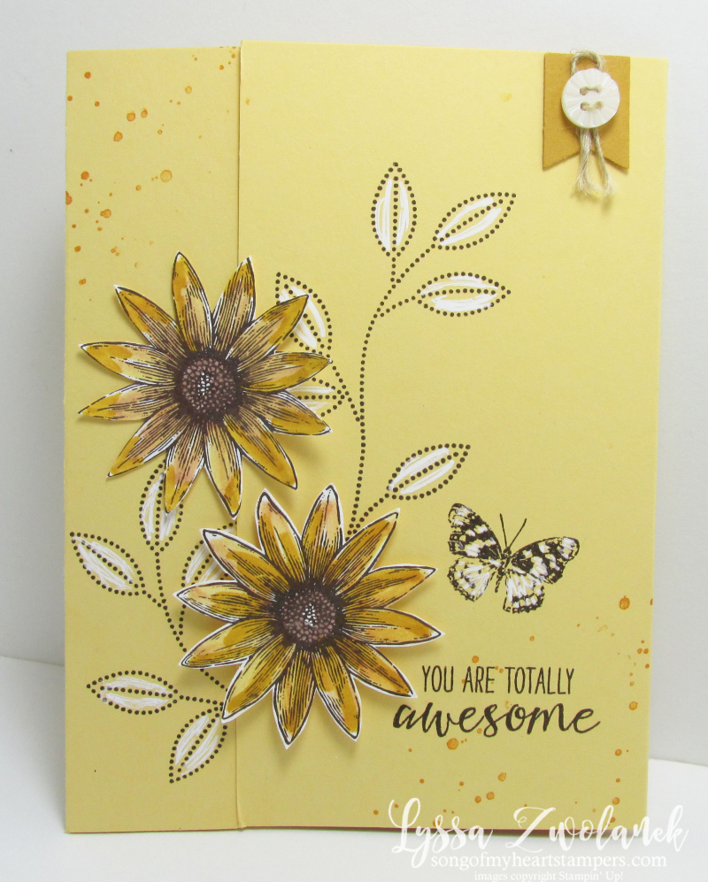 Stampin Up Grateful Bunch cardmaking sunflower stamp set of the month