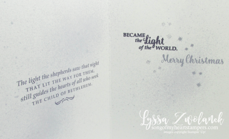 Star of Wonder Light Christmas Bethelhem holiday card stars sequins silver foil inside