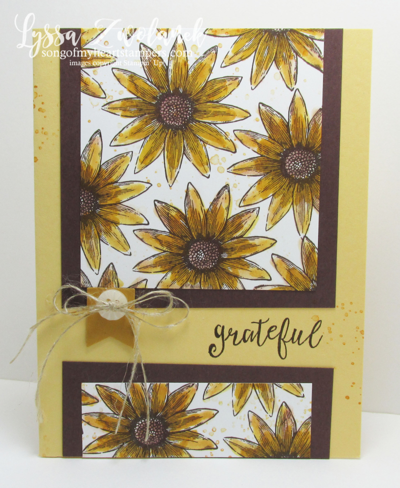 Stampin Up Grateful Bunch cardmaking sunflowers stamp set of the month