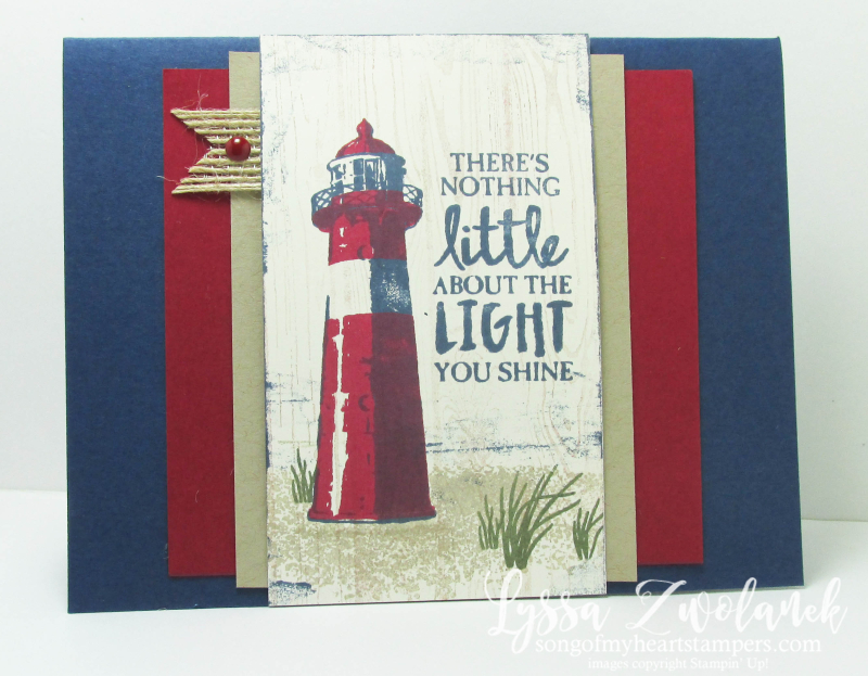 High Tide seashore lighthouse stamp set segulls ocean Stampin Up