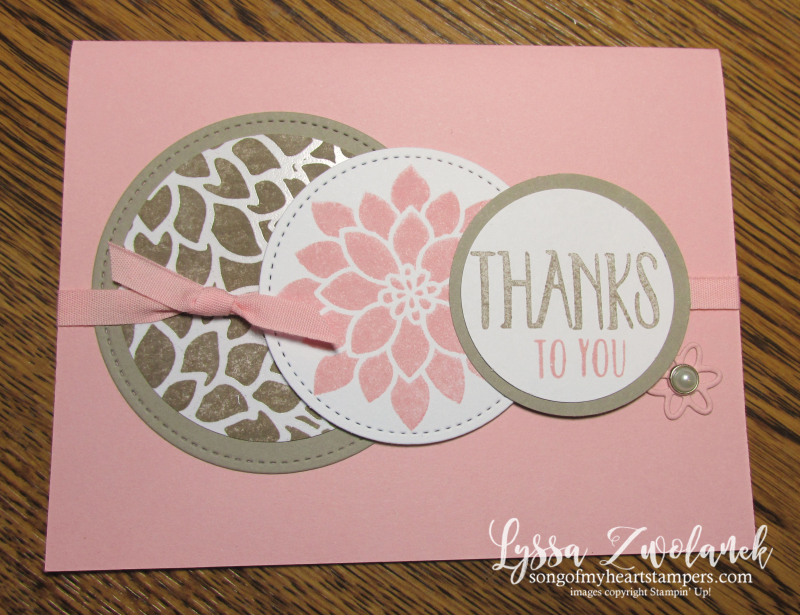 Irresistibly Floral emboss resist technique papers giveaway thank you card Sizzix Stampin Up