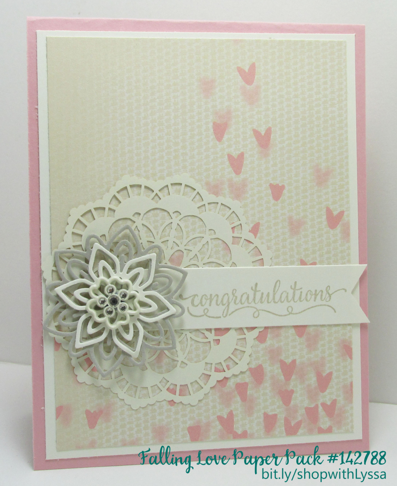 Falling in Love suite Stampin Up Shop with Lyssa patterned papers cardmaking supplies