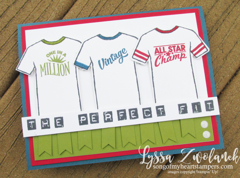 Custom Tee Designer Shirt Stampin Up Control Freaks Blog Hop tees tshirt stamp sports masculine male cards