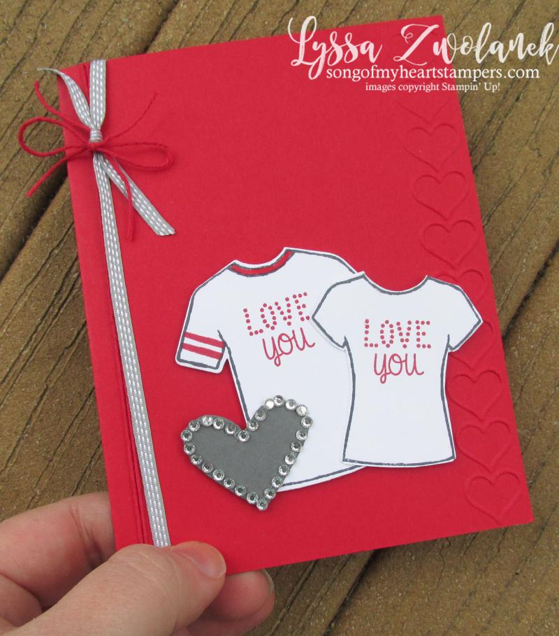 Custom Tee Designer Shirt Stampin Up Control Freaks Blog Hop valentine tees masculine male cards