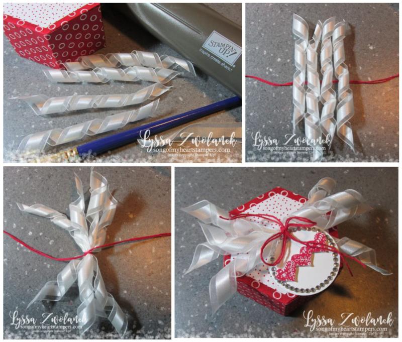 Quick Curled Ribbon Tutorial Valentine Blog Series Stampin Up Hexagon Box Sizzix