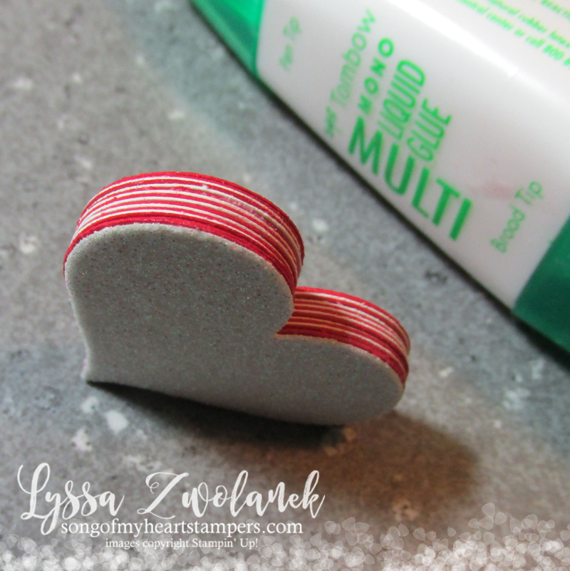 Multilayer heart punches embellishment Tombow Multipurpose Glue Stampin Up Sweetheart punch