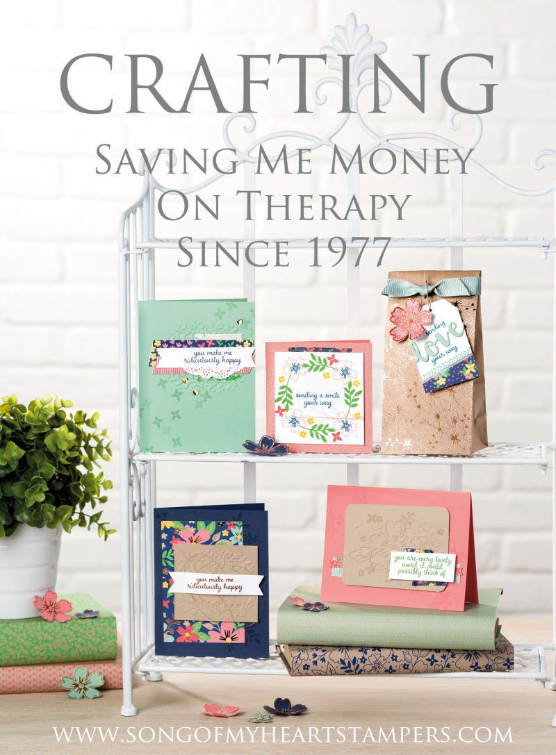 Crafting saves money Song of My Heart Stampers