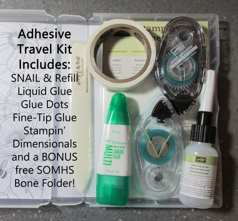 Adhesive Travel Kit from Song of My Heart Stampers
