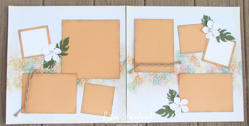 4x4 Scrapbooking Class Beach Wedding scrapbook layout luau hawaii tropical
